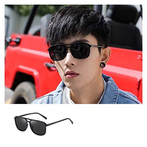 SSN Espejo De Conducción Polarizado Anti-Ultravioleta De Moda para Hombres Versión Coreana del Mismo Estilo De Moda Callejera Gafas De Sol (Color : A)
