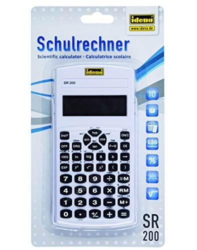 Idena 505282 - schoolrekenmachine SR 200, 10-cijferig display, op kleur gesorteerd