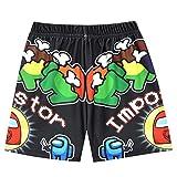 Houdom Boys Swim Trunks Quick Dry Beach Swimsuit Board Shorts Bathing Suit Swimwear Kids UPF 50 (Black, 9-10 Years)