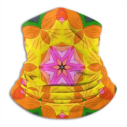 asdew987 Mehndi - Conjunto de bordes en la cara naranja bufanda bandana pasamontaña,68D calavera impresión diadema diadema abrigo bufanda cuello calentador para hombres mujeres