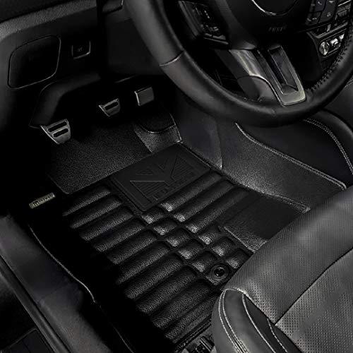 TuxMat Custom Car Floor Mats for Volkswagen Arteon 2019-2021 Model- Laser Measured, Largest Coverage, Waterproof, All Weather. The BestVolkswagen Arteon Accessory (Full Set - Black)