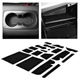 CupHolderHero fits Ford Escape Accessories 2013-2016 Premium Custom Interior Non-Slip Anti Dust Cup Holder Inserts, Center Console Liner Mats, Door Pocket Liners 18-pc Set (Solid Black)