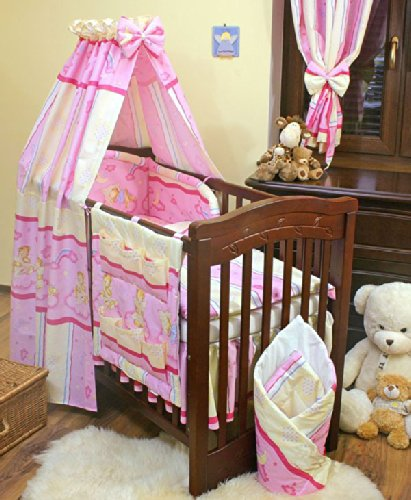 Review Pink/Cream Bear Bedding 11 Piece Set