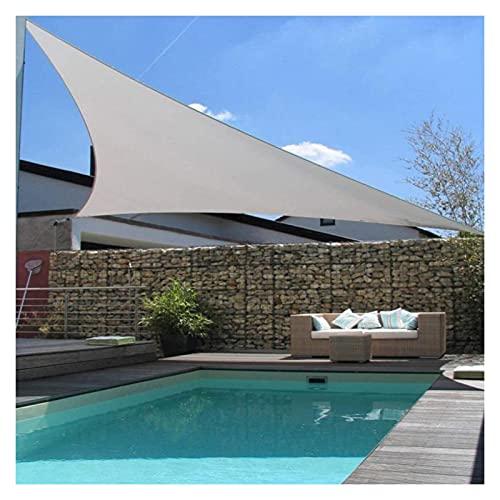 WULIL Toldo Vela De Sombra, Toldo Triangular con Protección Solar 98% De Bloqueo UV Poliéster Impermeable 300D para Fiesta En El Patio del Jardín Al Aire Libre (Color : Light Gray, Size : 5x5x5m)