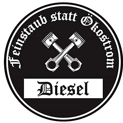 Deutsches Kulturgut Diesel Auto Aufkleber für innen Sticker Feinstaub Umwelt Plakette 2 Stück! Umweltzone Fahrverbot Diesel-Fahrzeug