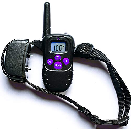 3 Modes of Remote Control & Vibration & Impact, Tone for Dog Training Collar, Fully Waterproof Rechargeable Dog Training Collar