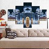 Pared moderna Arte de la pared Pared Islámica Turquía Estambul Mezquita del Sultán Ahmed Paisaje religioso sobre lienzo Pintura Regalos para creyentes