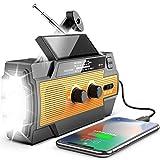 [Upgraded Version] Emergency Radio Hand Crank Solar 4000mAh Portable AM/FM/NOAA Weather Radio