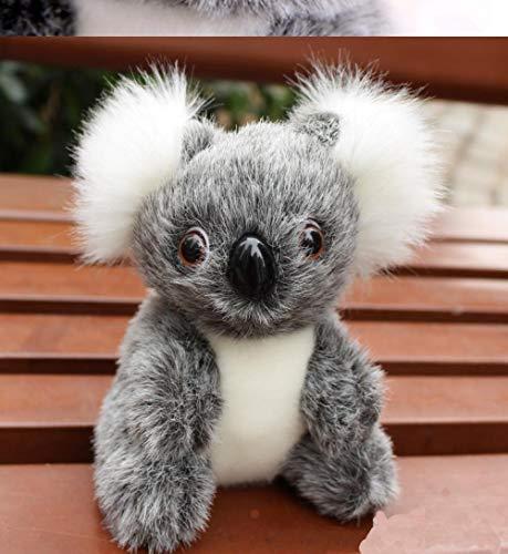 JMKHY Cute Small Koala Bear Plush Animal Toys Adventure Koala Doll Birthday Christmas Baby Adult Gift-12_cm_Gray