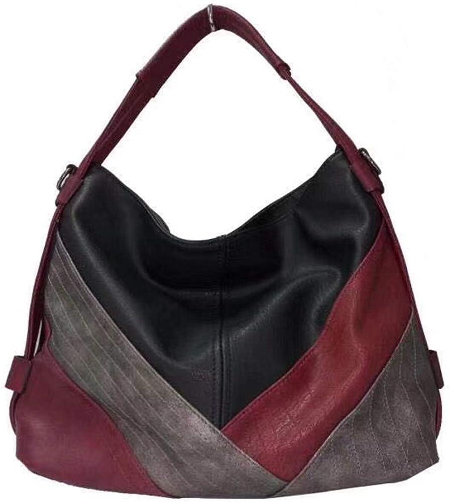 Women's Classica Colorblock Hobo Bag Multicolor Handbag and Purses Patchwork Leather Shoulder Bags