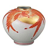 九谷焼 8号花瓶 金彩鳳凰 :福田良則