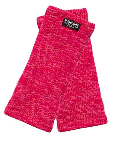 EEM Strick Wollstulpe Pulswärmer MAYA mit Thinsulate Thermofutter aus Polyester, Strickmaterial aus 100% Baumwolle; Pink Melange Onesize