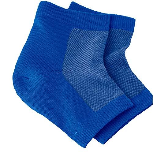 NatraCure Vented Moisturizing Gel Heel Sleeves - (Skin softening footcare treatment socks for...