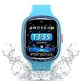 PTHTECHUS 4G Smartwatch Phone per Bambini, video chiamata Orologio WIFI+GPS Anti-perso Impermeabile IP67 e standby di 72 ore, Sveglia SOS per il Gioco di Orologio per bambini, regalo bambino 3-12 ann