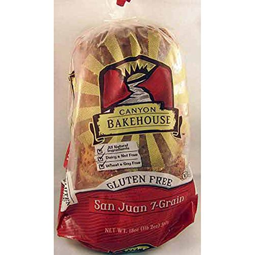Canyon Bakehouse 7 Grain San Juan Bread, Gluten-Free, 18 oz (Frozen)