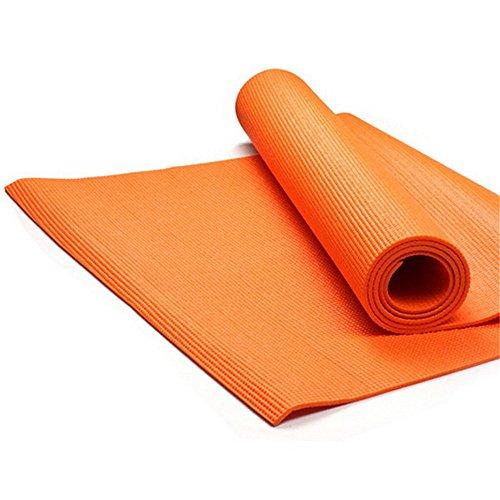 JOMSK Equipo de Entrenamiento Estera de Yoga Fibre6mm Naranja Rojo Respetuoso con el Medio Ambiente Tasty Gym Estera de Yoga para la Familia Gym.