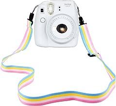 Elvam Camera Neck Shoulder Strap Belt in Rainbow Blue Yellow White Pink Color for Digital Camera/Fujifilm Instax Camera Mini 9 / Mini 8 / Mini 8+ / Mini 7s / Mini 25 / Mini 50s / Mini 90