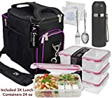 Complete Meal Prep Lunch Box - 8 Pcs Set: Cooler Bag 3x Portion...
