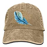 Nifdhkw Hermoso Logotipo de la Pluma DIY patrón de Moda de Verano Gorra de béisbol de algodón Ajustable Camionero Sombreros para Deporte al Aire Libre Design12