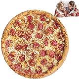 Couverture de Pizza, Couverture Ronde d'enveloppe de Nourriture, Lancer de lit. Couverture canapé Confort. Flanelle Taco Plush pour Adultes et Enfants -180cm