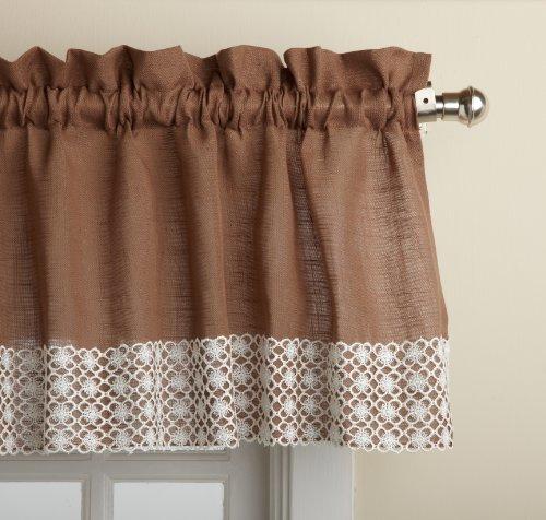 Lorraine Home Fashions Salem 60-inch x 12-inch Tailored Valance, Chocol