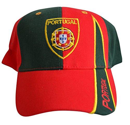 Flaggenfritze Kappe Motiv Portugal Fahne, fan - Cap mit portugiesischer Fahne