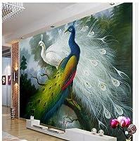 xueshao カスタム写真壁紙3Dステレオ孔雀壁画壁紙リビングルームの寝室の壁紙家の装飾-150X120Cm