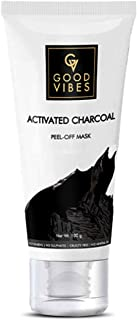 Good Vibes Activated Charcoal Peel Off Mask For Women & Men, 100 g Blackhead Removal Deep Pore Cleansing Anti Acne Face Ma...