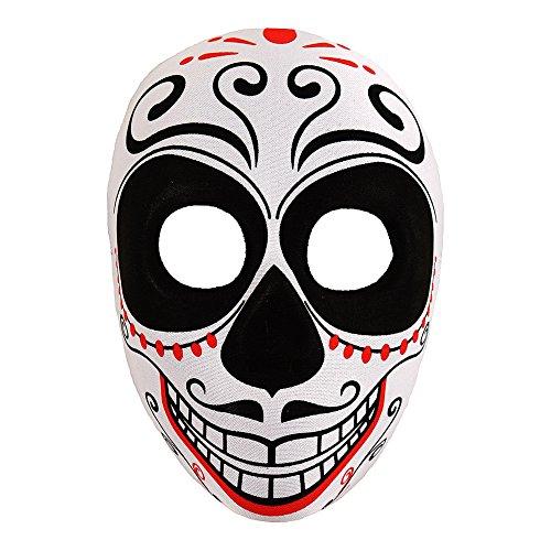 Unbekannt FIG 3741 Halloween bunt-Los Muertos Maske, Uni
