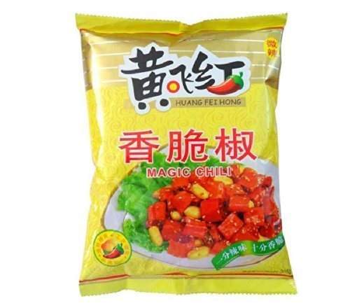 Huang Fei Hong Spicy Snack Magic Chili with Peanut,308g,spicy & Crunchy!