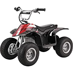 "Max speed: 8 mph | Max Rider Weight: 120 lb Item Dimensions: 43"" L x 24"" W x 31"" H Up to 40 minutes of continuous use. Shatter-resistant plastic fairings and powder coated tubular frame for all weather durability. Front brush bar. Rear carry handle. ..."