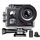 AKASO V50 Elite 4K/60fps 20MP WiFi Action Camera Voice Control Electronic Image Stabilization 40m Waterproof Camera Adjustable View Angle Remote Control Sports Camera with Helmet Accessories Kit