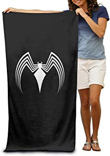 Black and White Spider Adult Beach Towels Fast/Quick Dry Machine Washable Lightweight Absorbent Plush Multipurpose Use Quality Towels for Swim,Pool,Beach,Gym,Camping,Yoga