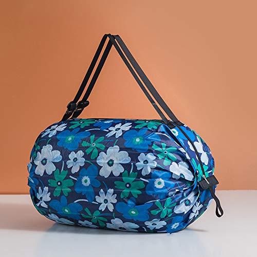 ZS ZHISHANG Bolsa de almacenamiento de compras con asa, protección ambiental Aanvas, bolsa de almacenamiento plegable para el hogar al aire libre, bolsas de compras reutilizables
