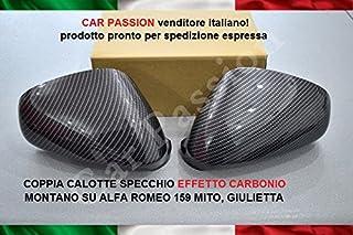3C8857537 3C8857538 2 Pezzi Specchietto Retrovisore in Fibra Carbonio Retrovisore Adatto per Beetle Copertura Specchietto Retrovisore