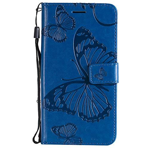 Hülle für iPhone XR Hülle Handyhülle [Standfunktion] [Kartenfach] [Magnetverschluss] Tasche Etui Schutzhülle lederhülle klapphülle für Apple iPhone XR - JEKT040086 Blau