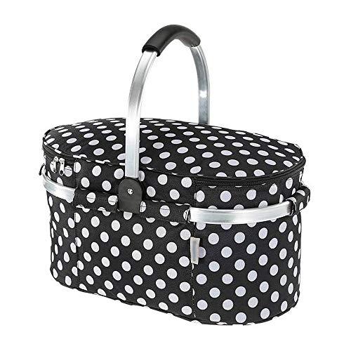 ZXNRTU Gran regalo Plegable con aislamiento cesta de picnic con tapa 30L Extra Grande bolsa aislante fácil almacenamiento compacto Diseño Vino cesta de picnic for el rojo Caperucita pequeña cesta de p