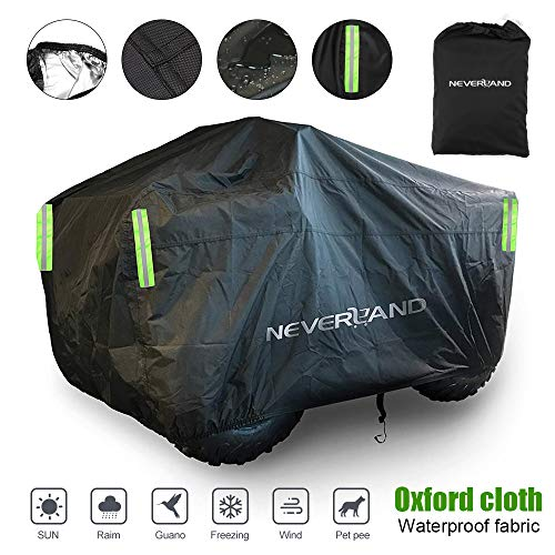 ATV Cover Waterproof for Polaris Sportsman Yamaha Grizzly Honda Kawasaki With Straps Reflective Storge