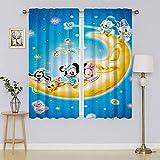 Mickey-Mouse - Cortinas opacas para ventana, diseño de rayas, para dormitorio, eficiencia energética, para cortinas de ventana de guardería, 137 x 182 cm