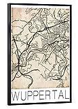 artboxONE Poster mit schwarzem Rahmen 60x40 cm Städte