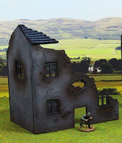 "WWG Casa de Campo en ruinas ""Normandía"" 28mm- Dioramas Militares, II Guerra Mundial, Flames of War"