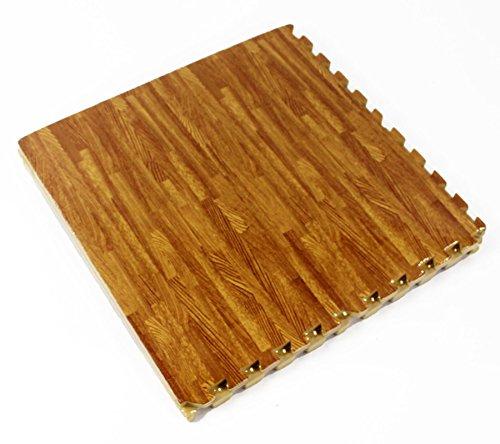 Wooden Effect interlocking EVA Foam Mat Gym Home Flooring 16sqft (451)