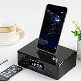 Sandy Audio de Chevet, Base de Chargement Rotative 3 en 1 pour Téléphone Portable, Haut-Parleur...