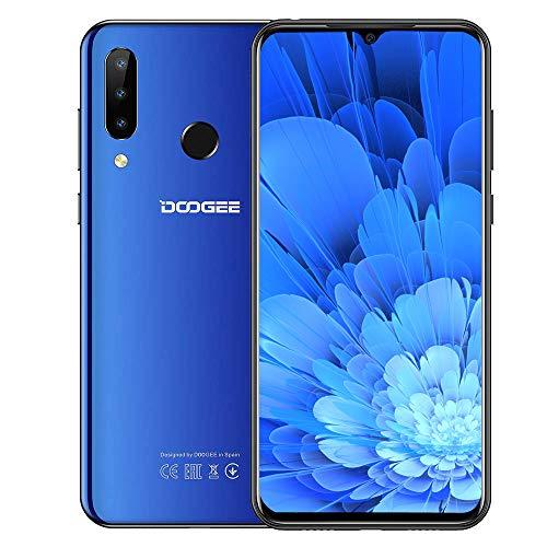 DOOGEE N20 (2020) 4G Smartphones Ohne Vertrag Günstig, Android 9.0 Smartphone 6,3 Zoll FHD+ Display, Octa-Kern 4GB RAM+64GB ROM 16MP+8MP+16MP Kameras 4350mAh Dual SIM Blau