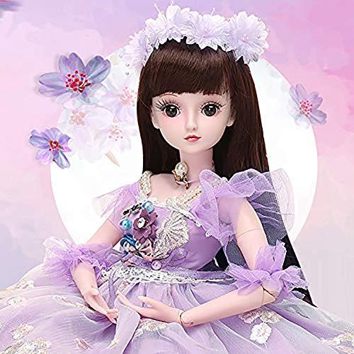 ZNDDB 23,6 Zoll Reborn Baby doll Kann Sich verkleiden, 19 Gelenke, Schuhe/Perücken, Mädchengeschenke,Kinderspielkameraden