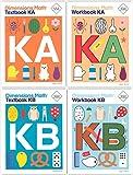 Dimensions Math Grade K Books Set (4 Books) - Textbooks KA & KB, Workbooks KA & KB