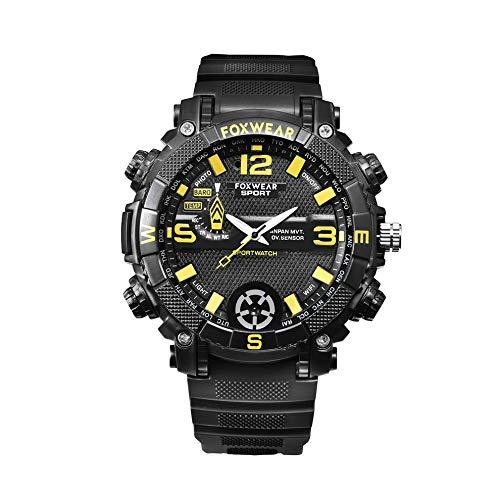 Foxwear Outdoor Sports Smart Watch 5 Millones De Cámaras De Alta Definición WiFi Iluminación Remota Led 720Phd High Definition Black Fox9C, 16Gb