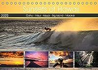 Sunsets of Hawaii (Tischkalender 2022 DIN A5 quer): Sonnenuntergaenge auf Hawaii - Postkarten-Motive auf jeder Hawaii-Insel. (Monatskalender, 14 Seiten )