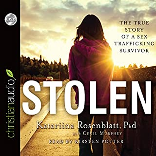 Stolen     The True Story of a Sex Trafficking Survivor              Auteur(s):                                                                                                                                 Katariina Rosenblatt,                                                                                        Cecil Murphey                               Narrateur(s):                                                                                                                                 Kirsten Potter                      Durée: 5 h et 35 min     2 évaluations     Au global 1,0