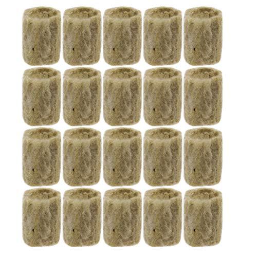 Cabilock 20 Stück Pflanzenstecker Steinwolle Pflanzenstecker Rohre